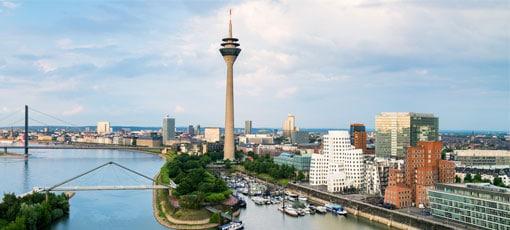 Rheinturm in Düsseldorf