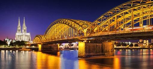 Kölner Dom und die Hohenzollernbrücke