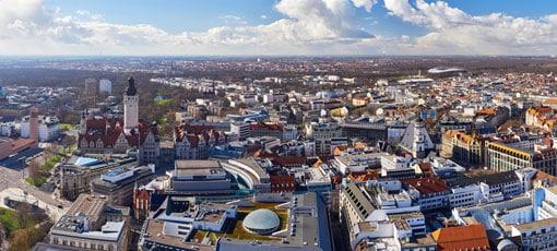 Stadtzentrum in Leipzig